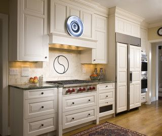 """Great info about vent in questions.  This hood measures 21"""" deep from the front of the mantel to the wall. In addition to the depth, you also need to consider the height off of the cook surface and the side-to-side space to the adjoining wall cabinets. In this picture, the bottom of the mantel is 30"""" above the cook surface, and the width is 42"""".  We use the Best PK22 insert with our own custom liner.  Our rangetop cabinet is 24"""" deep, and was pulled 2"""" off the wall."""