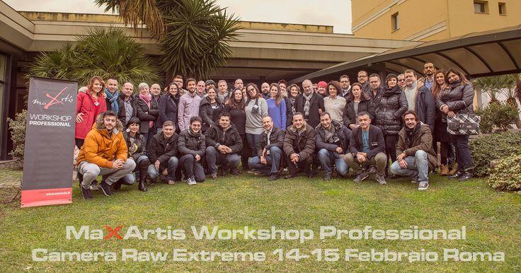 Un IMMENSO grazie a tutte le meravigliose persone che sono venute da ogni angolo d'Italia per il mio corso CAMERA RAW EXTREME 14-15 Febbraio 2015 a Roma! Per conoscere le date dei prossimi corsi: http://www.maxartis.it/corsi_photoshop_fotografia.php Iscriviti alla newsletter per scaricare utili tutorial ed essere informato sulle prossime iniziative: www.maxartis.it/newsletter.php
