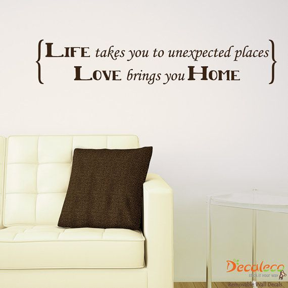 FREE Shipping  Love Brings You Home Wall Decals Quote  by Decaleco