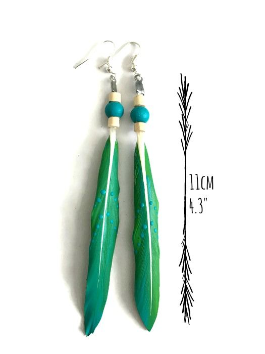These gorgeous hand painted feather earrings make a colour pop statement without weighing down your ears - www.thegirlwithpaintonherhands.com