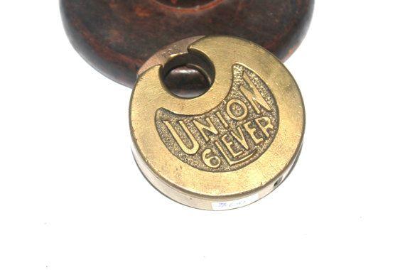 Antique Union 6 Lever Pancake Lock Antique by AntiqueAlchemyShop