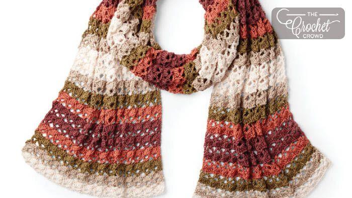 Crochet Striping Shells Shawl + Tutorial   crochet   Crochet