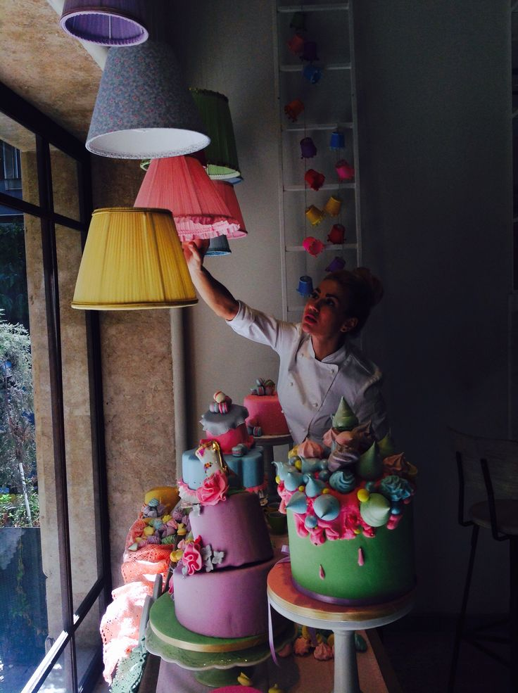 Making of our Tea Party window display April 2016