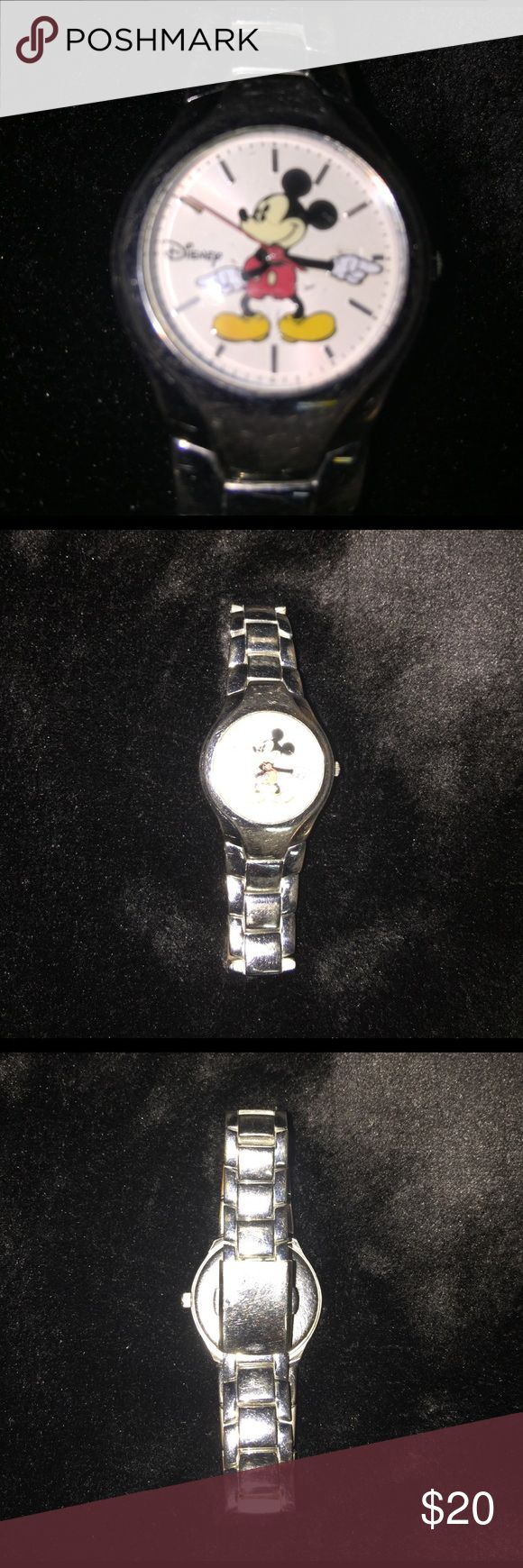 Mickey Mouse Watch Pre Loved Vintage Stainless Steel