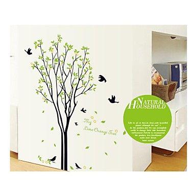 τοίχο αυτοκόλλητα αυτοκόλλητα τοίχου, το στυλ πουλιά δέντρο αυτοκόλλητα PVC τοίχο – EUR € 18.22