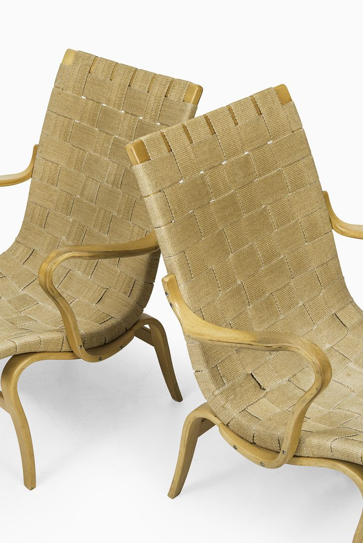 Bruno Mathsson Eva easy chairs by Karl Mathsson at Studio Schalling