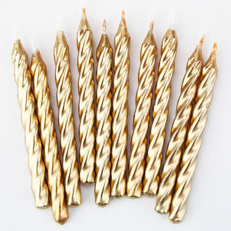 Gold Twist Birthday Candles - Layer Cake Shop