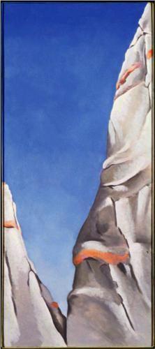 Blue Sky, 1941, oil on canvas, Worcester Art Museum, Worcester MA ~ Georgia O'Keefe ( American, 1887-1986)