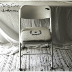 Cute upgraded folding chair @Looksi Square by Mary Beth of #cupcakesandcrinoline