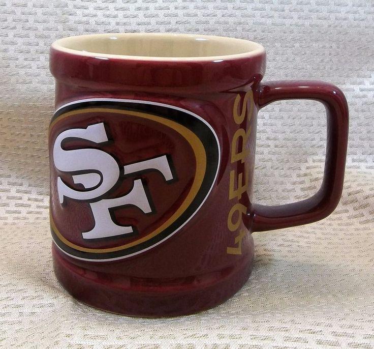 San Francisco 49ers Coffee Mug Embossed Cup NFL #SanFrancisco49ers