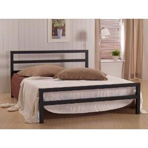 City Block King Size Black Metal Bed :: UK Supplier :: Home Furniture  Bedroom Beds U0026 Bedframes Metal Beds Kingsize Metal Beds :: The City Block  Black Bed ...
