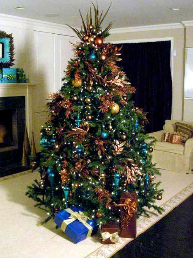 Teal And Copper Xmas Decorating Google Search