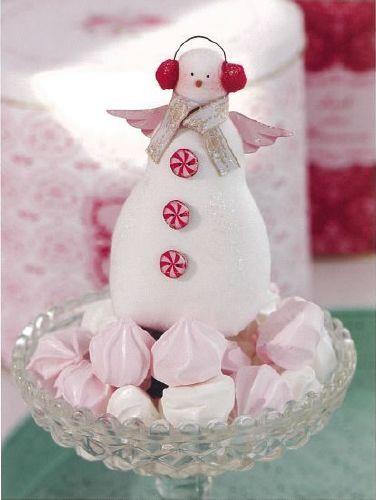 "Tilda's Fabric Snowman ~ in Tone's book ""The Wonderful Christmas Tilda""."
