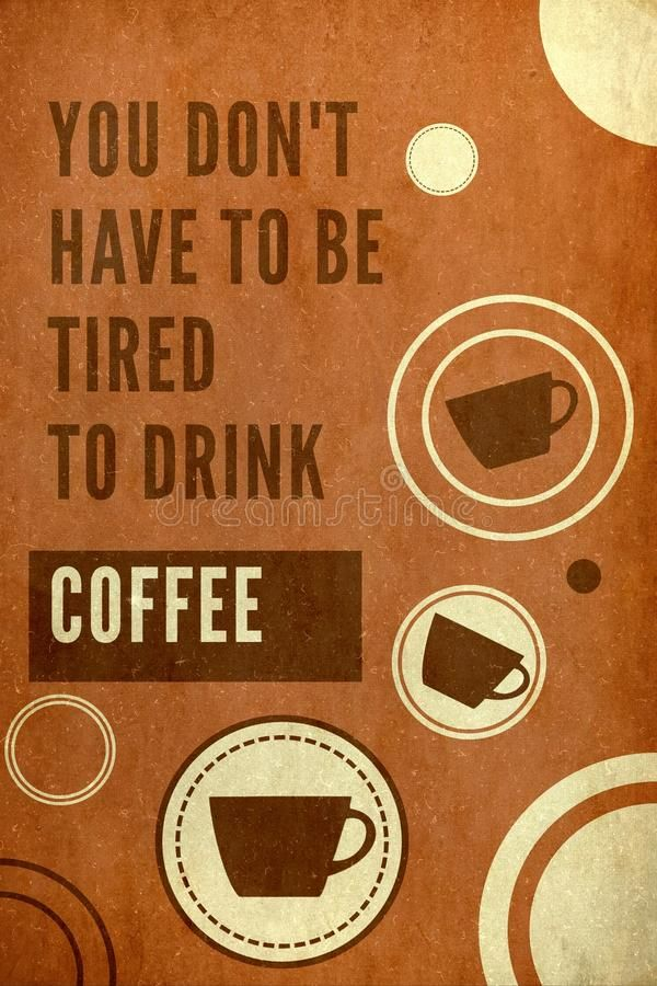 Download Coffee poster stock illustration. Image of drink, coffee - 105828562