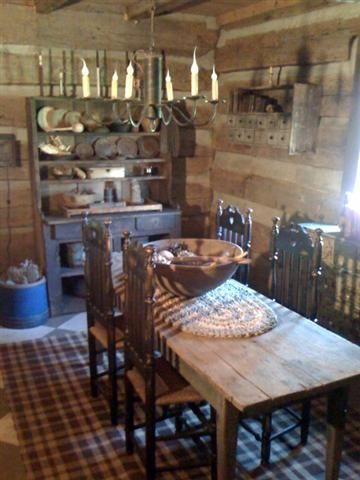 ...Decor ideas for our Marshal Hooker Cabin at Red Oak II...Sure looks homey and inviting to me...