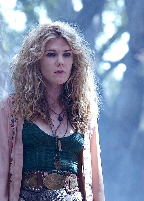 American Horror Story Coven-Misty Day, the necromancer obsessed w Stevie Nicks. I'm a little confused about her characters relevance BUT I'm obsessed with her Stevie wardrobe!