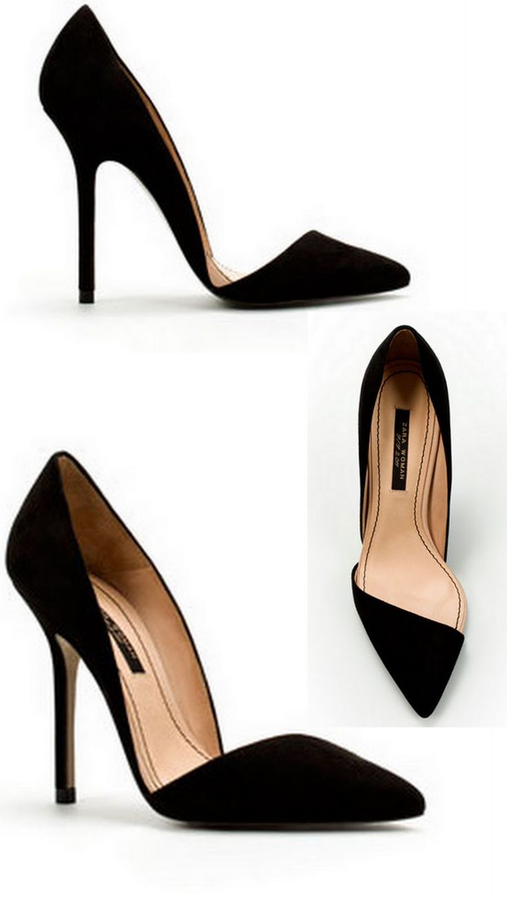 ZARA Asymmetric Court Shoes  amazing curve and point.
