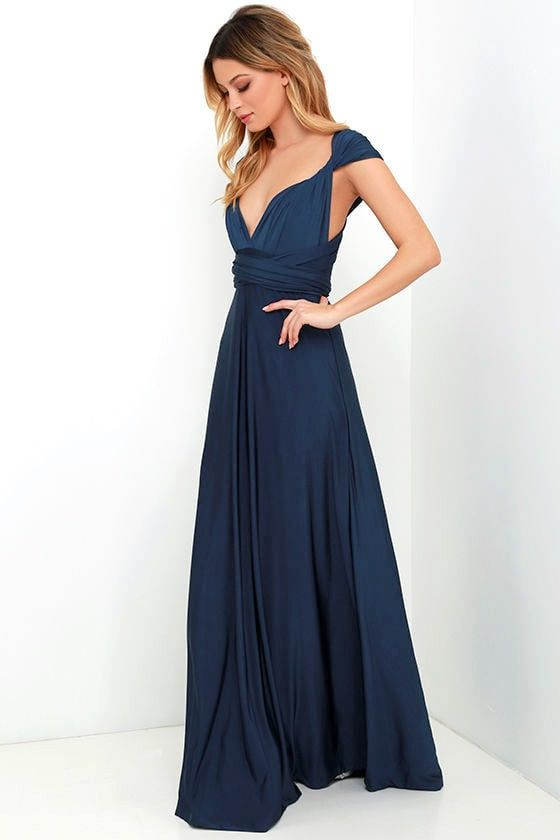 5909501f589c Always Stunning Convertible Navy Blue Maxi Dress in 2019 | Egypt ...