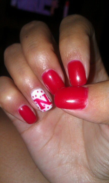 Husker Nail Art Opi Gel By Chris Schanaman In 2018 Pinterest Nails And Designs