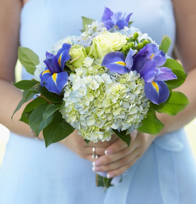 wedding flowers blue and green - Google Search