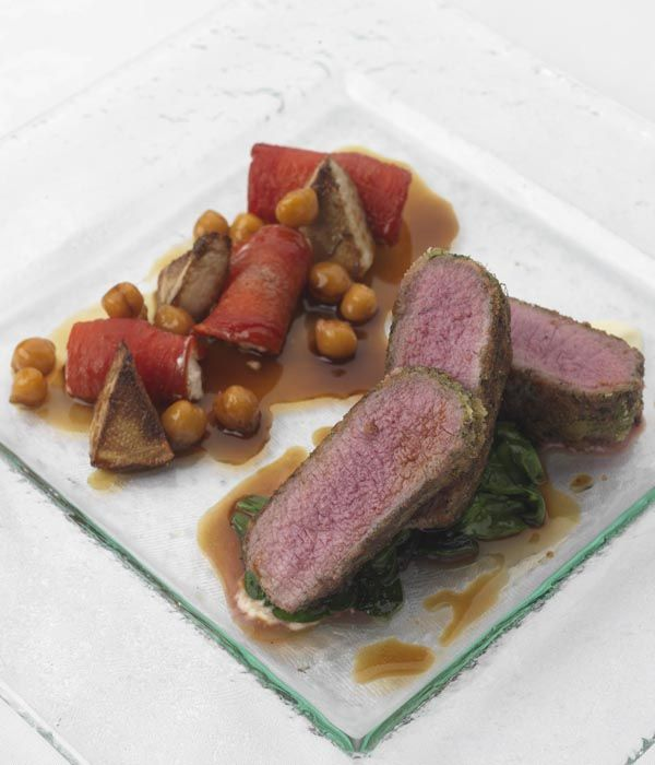 This lamb loin recipe from Phil Carnegie is an absolute abundance of wonderful flavours. The artichokes and the confit tomatoes in this recipe do take a bit of extra time, but are perfect partners with the cooked lamb.
