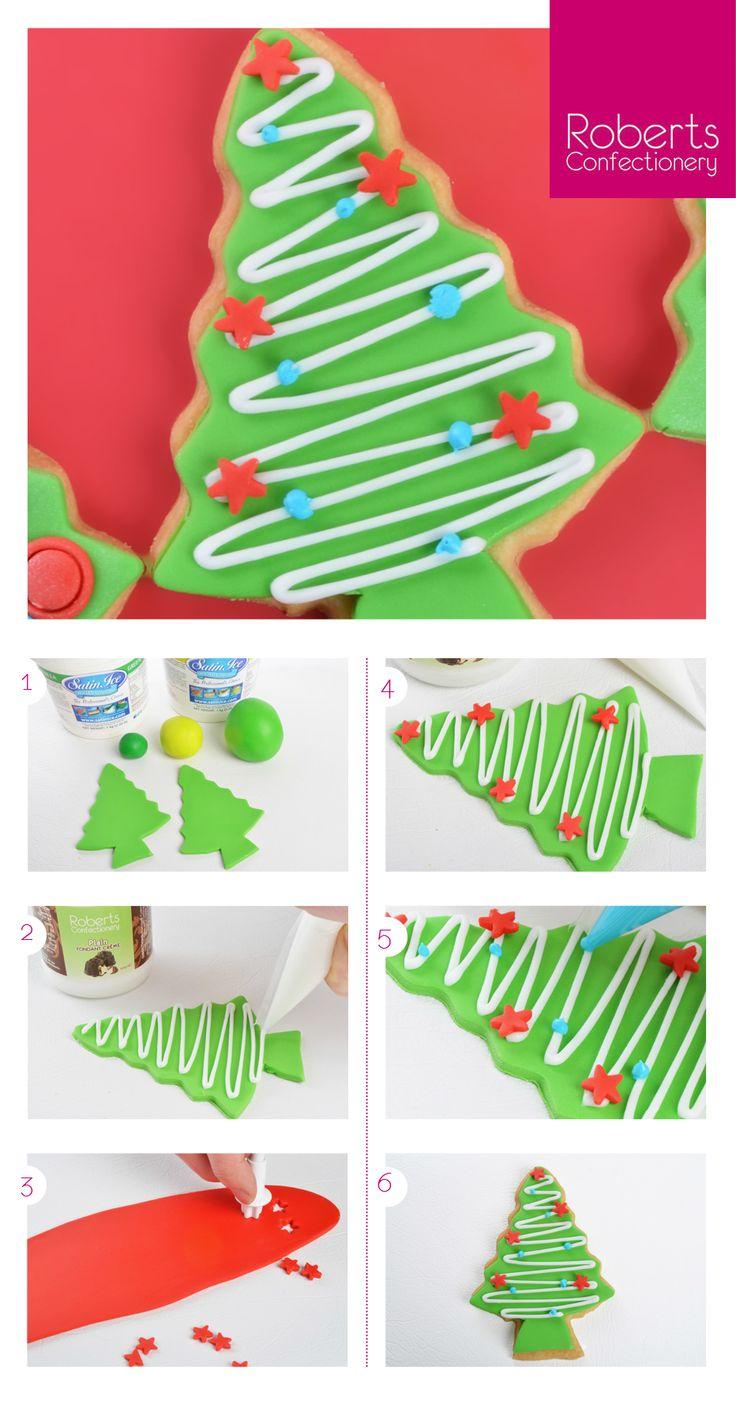 Christmas Tree Cookie using Satin Ice & Roberts Confectionery Plain Fondant Creme