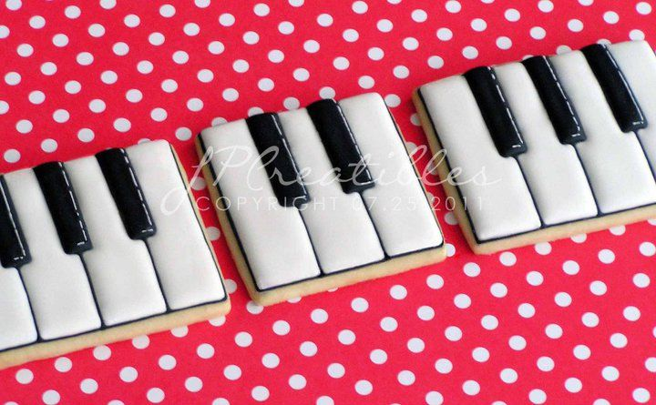 Piano Keys Cookies; probably look better than they taste, but they're still awesome!
