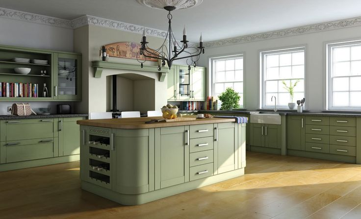 Garden Green - Paintable Finish Kitchens - Contemporary Kitchens ...