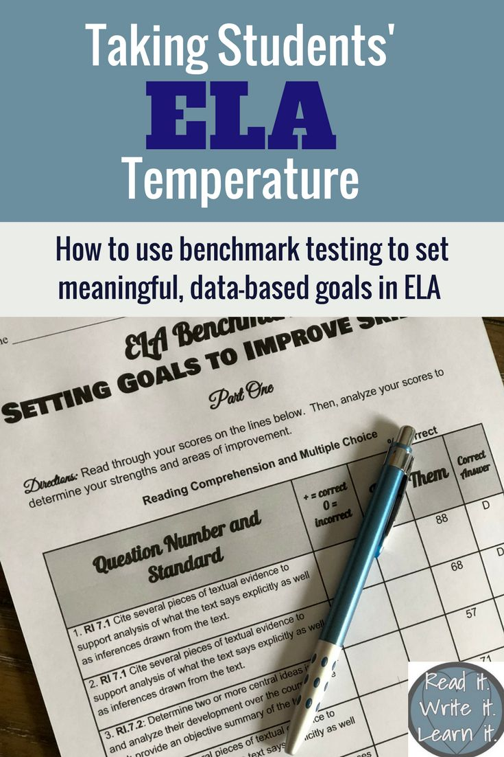 Team with students to analyze benchmark data to help set meaningful, standards based goals for learning and instruction. From www.readitwriteitlearnit.com