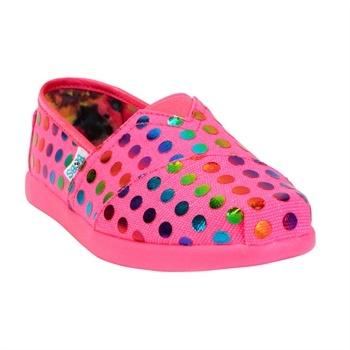 Skechers Girls Toddler Pretty Polka Bobs World Shoes #VonMaur #Skechers #Pink #Bobs