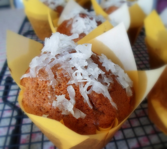 Coconut Lime Glazed Banana Muffins from The English Kitchen: Teatime ...