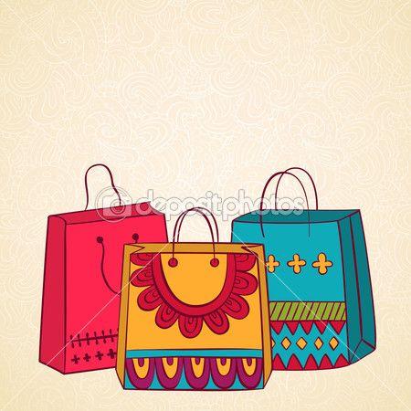 Сумки для покупок — Стоковая иллюстрация #32139093