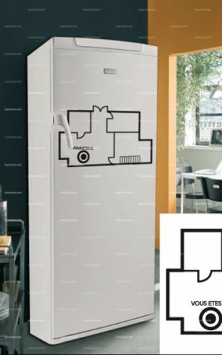 Stickers frigo : plan de maison    http://www.idzif.com/idzif-deco/stickers-deco/stickers-frigo/produit-stickers-frigo-plan-de-maison-5490.html