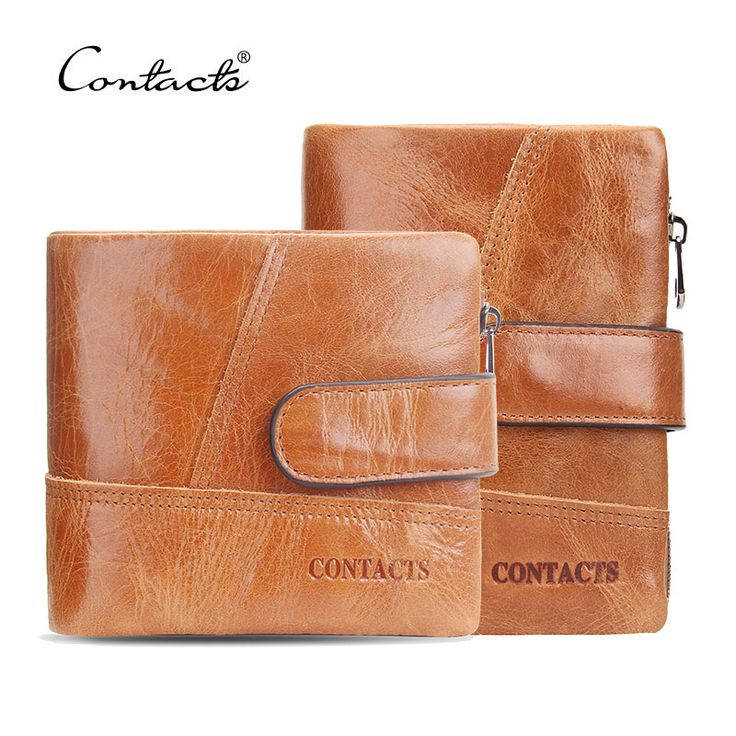 CONTACT'S Classical England Genuine Leather Men Wallets Wallet For Fashion Sandstone Color Purse Card Holder Man Coin Pocket
