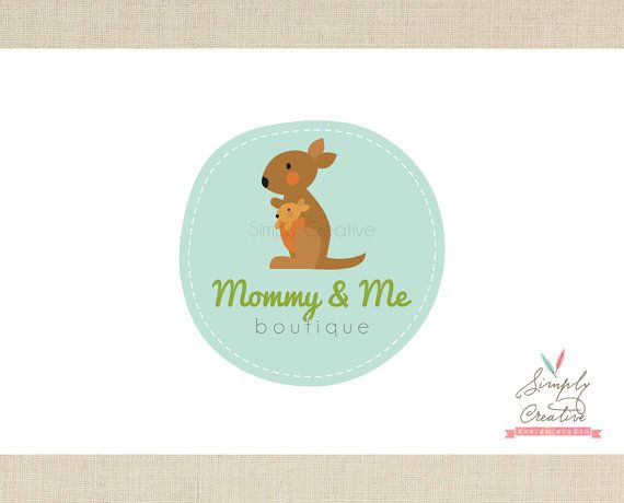 Logo Design  Premade Logo  Kangaroo Mom and by simplycreativeshop