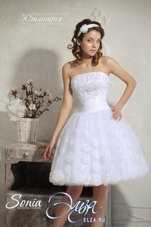 Cвадебное платье Ютландия: платье-пачка, балетный стиль, короткое платье, с прямым вырезом, без шлейфа, модель до 2016 года, без рукавов, платье, в ограниченном количестве, основная ткань: атлас