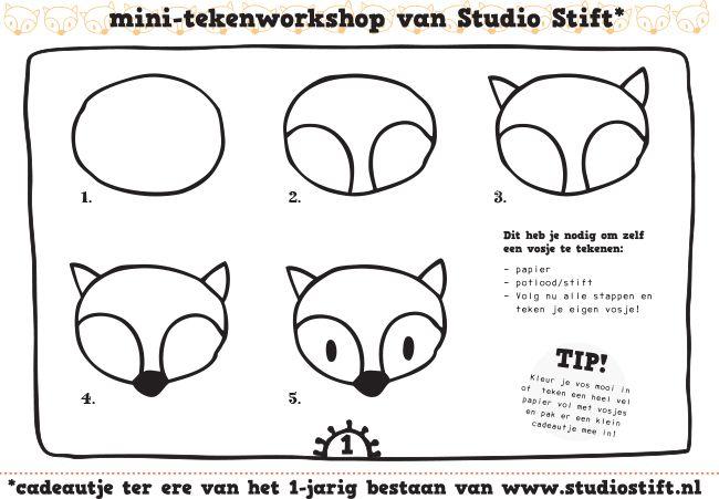 Hoe een vosje te tekenen