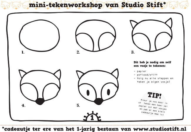 How-to draw Fox. Because you'll never know when you need to draw a fox...