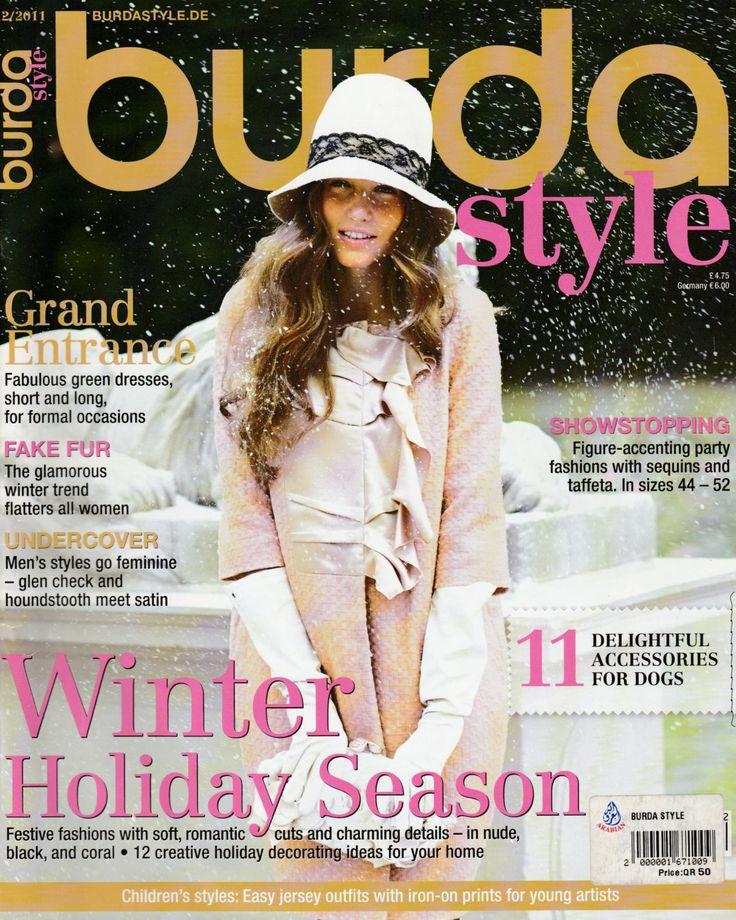 Burda Style Magazine December 2011 Issue in English by EmeraldSewingChest on Etsy
