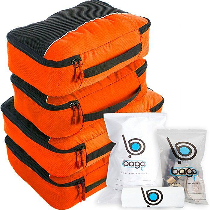 Amazon.com: Bago Packing Cubes For Travel Bags - Luggage Organizer 10pcs Set (Orange): Sports & Outdoors
