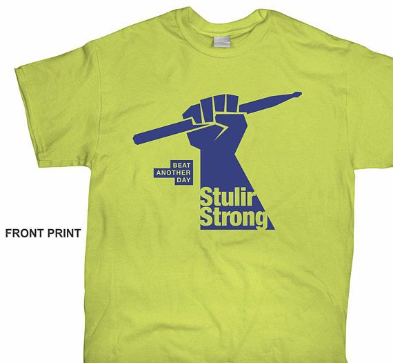 """Help support a Texas Band Director w medical expenses as he prepared for a """"live kidney transplant"""". Help him to continue to share music with kids....to beat another day! https://www.etsy.com/listing/573480929/stulirstrong-t-shirt"""