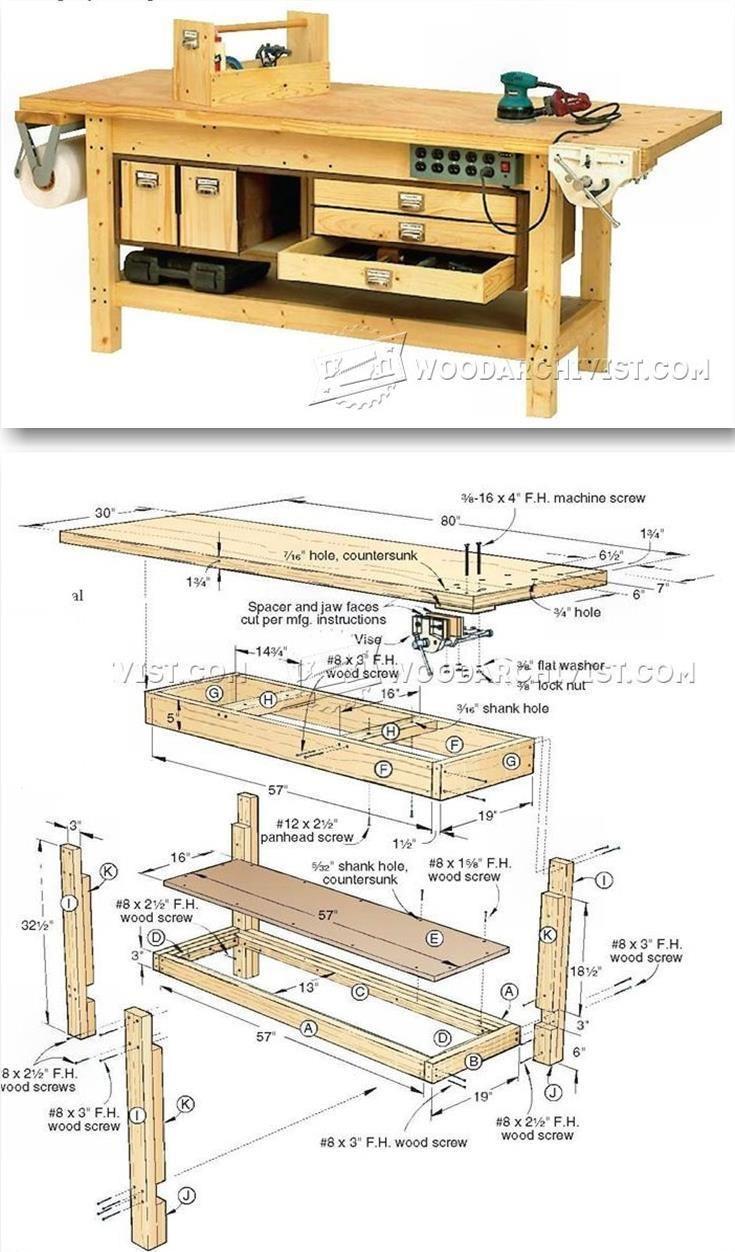 Best 25 workbenches ideas on pinterest woodworking for Planos de carpinteria