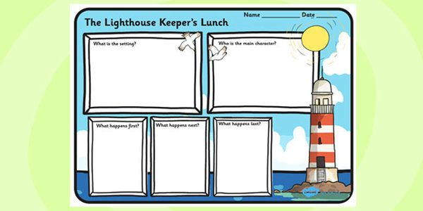 The Lighthouse Keeper's Lunch Primary Resources, story sack