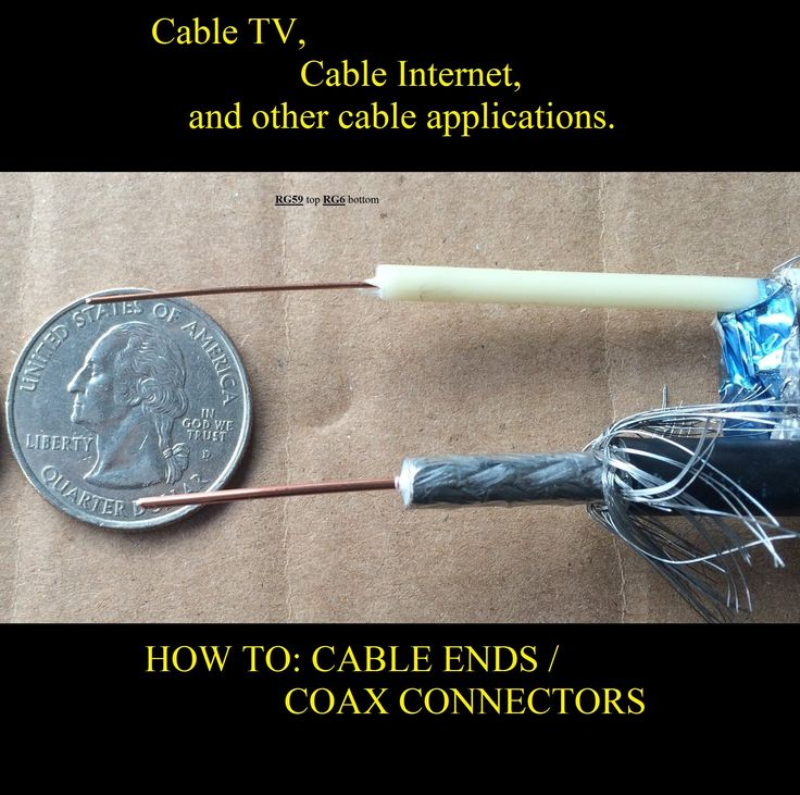 How To Cable Connectors Diy Cable Ends F11 Rg6 Video On Coaxial Cable Cable Cable Internet Internet Speed