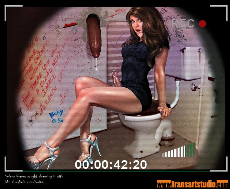 Sex parody of shemale Selena having been caught on camera during a hot interracial big black cock gloryhole adventure! Celebrity sex spoofs are just too fun to draw :P
