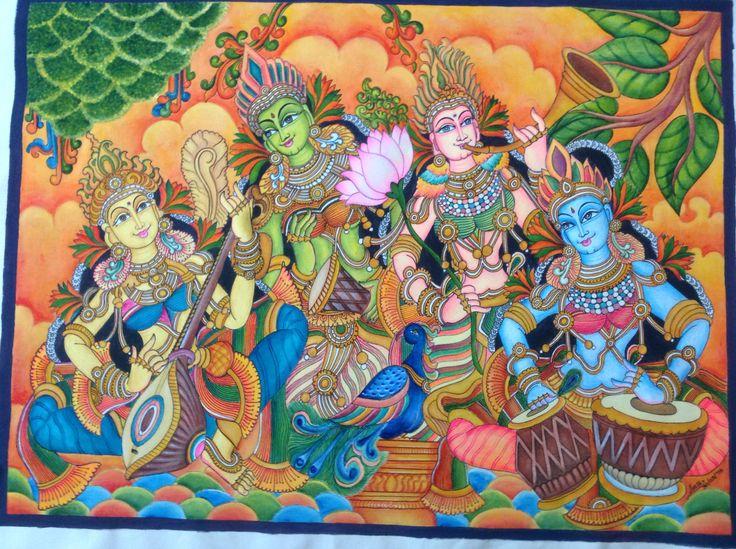 Kerala style mural painting