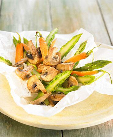 Salteado de verduras y champiñones. CENA