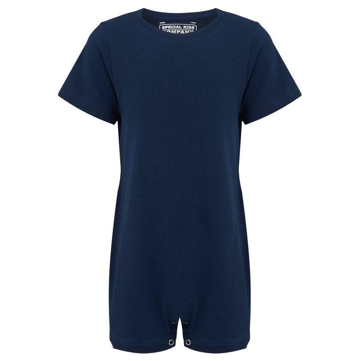 KayCey SUPER SOFT Bodysuit - Short Sleeve - NAVY    http://specialkids.company/