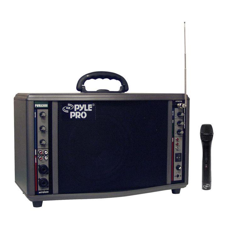 Pyle PWMA3600 200 Watt Wireless Battery Powered PA System