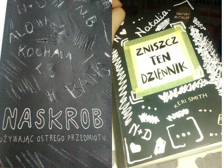 Podesłała Natalia Bielecka #zniszcztendziennikwszedzie #zniszcztendziennik #kerismith #wreckthisjournal #book #ksiazka #KreatywnaDestrukcja #DIY
